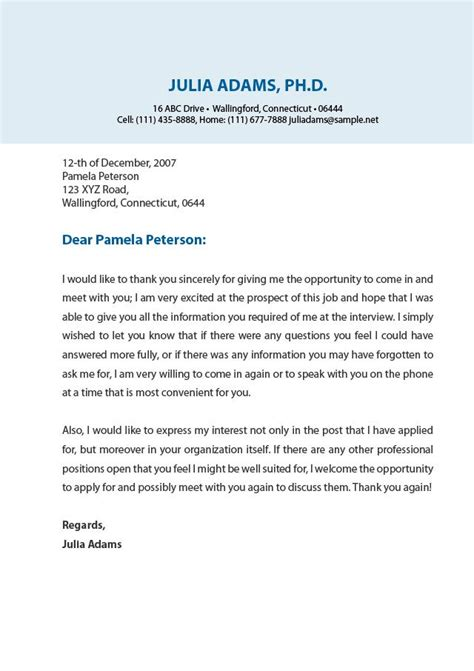 professional thank you letter crna cover letter
