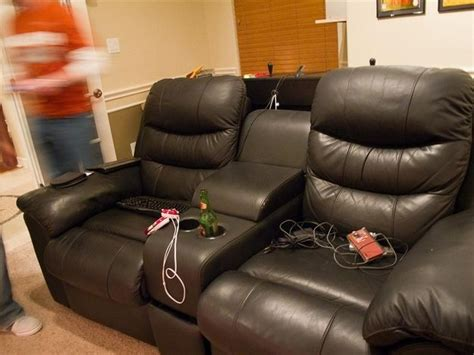 recliner gaming setup this is the best gaming setup ever game room chairs