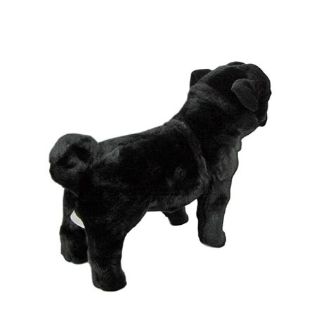 black pug soft black pug standing soft plush 16 034 40cm midnight by bocchetta new ebay