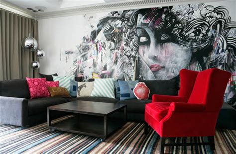 colorful wallpaper living room colorful living room with crazy wallpaper decoist
