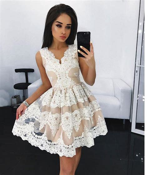 Dress Cantik Promo 7 white lace prom dress white lace homecoming