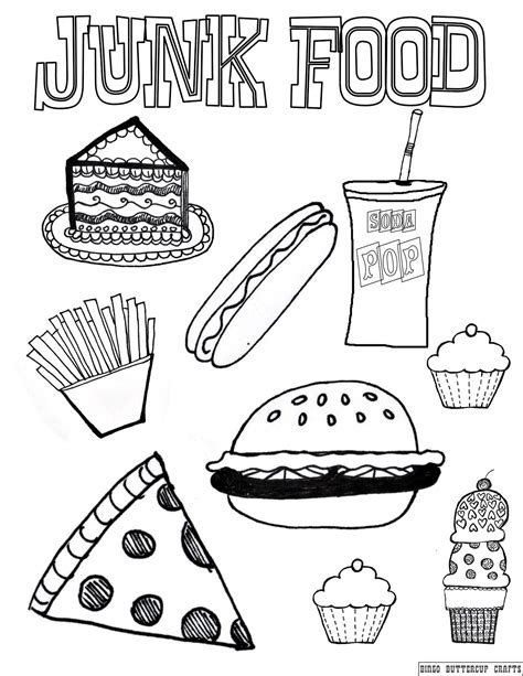 Snacks Coloring Pages Getcoloringpages Com Healthy And Unhealthy Foods Coloring Pages