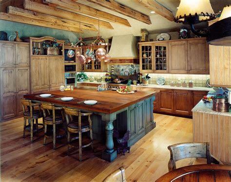 Rustic Kitchen Island   KITCHENTODAY