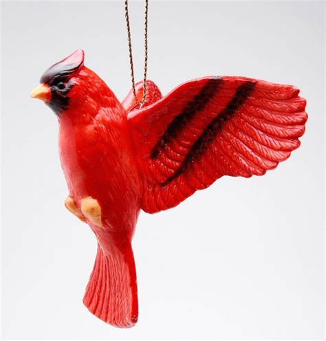 cardinal bird christmas tree ornaments set of 4