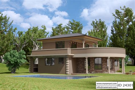 house planes contemporary 4 bedroom house plan id 24301 building