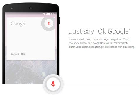 kitkat feature spotlight 4 4 includes moto x style quot ok quot voice commands but only on the