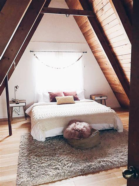 triangle bedroom design super cozy renovated a frame home in oregon decorazilla