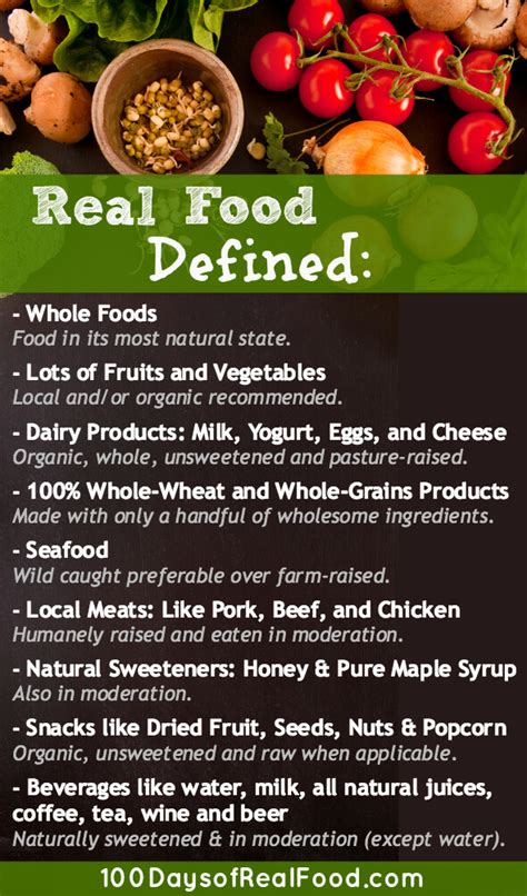 Pdf 100 Days Real Food Wholesome by Real Food Defined The 187 100 Days Of Real Food