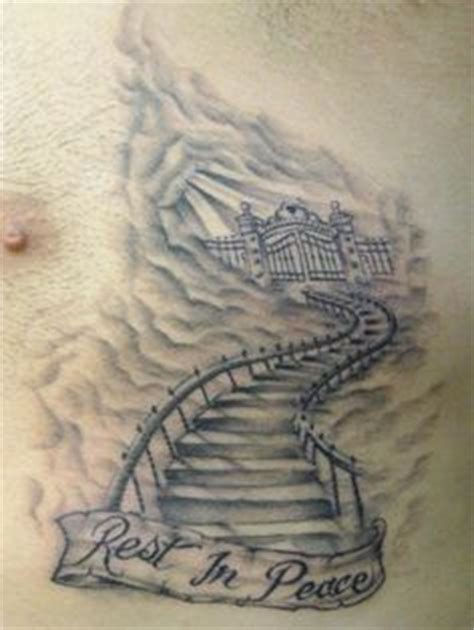 stairway tattoo designs 1000 ideas about heaven tattoos on cloud