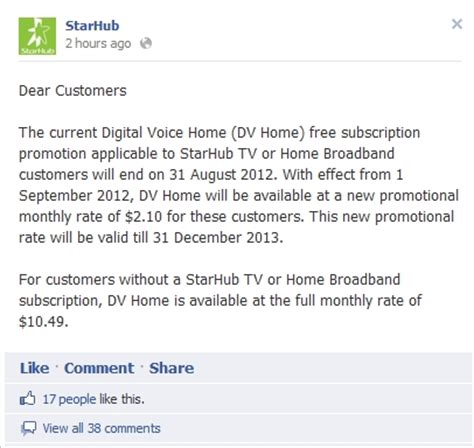 Promotion Letter Ending Starhub Ending Free Digital Voice Home Promotion Update Hardwarezone Sg