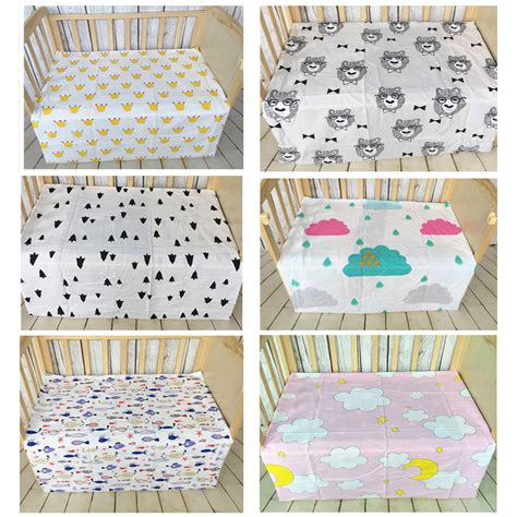 Newborn Baby Bed Sheet Pattern Bedding 110x76cm Bed Sheet Soft Crib Mattress For Toddler