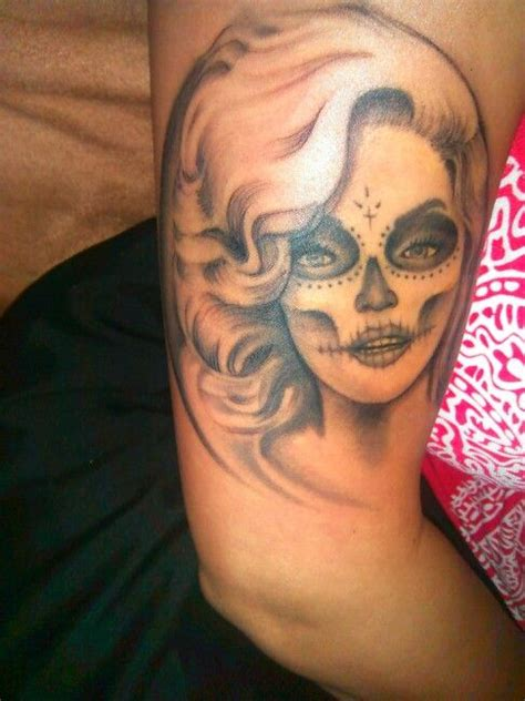 marilyn monroe day of the dead tattoo 153 best images about tattoos on catcher