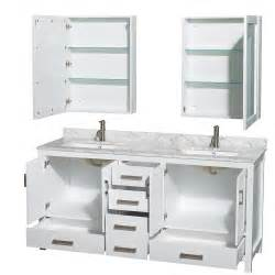 Sink Vanity In Sheffield 72 Inch Sink Bathroom Vanity White Finish