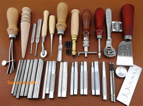 leather craft tool 35pcs leather craft sewing tool set kit stitching groover