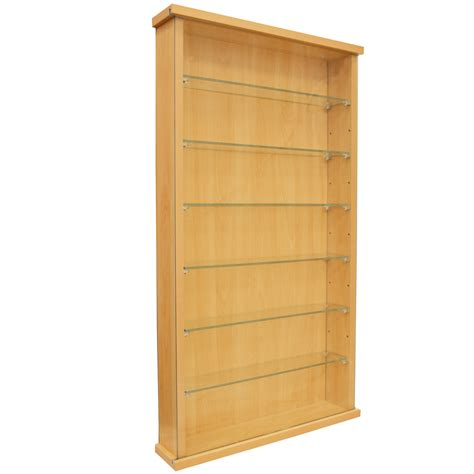 glass shelves for cabinets collectors wall display cabinet with six glass shelves