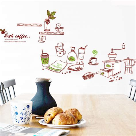 Wall Sticker Transparan Kitchen Tools Ay6017 cooking tools wall stickers kitchen vintage poster stickers cuisine on a wall mirror decorative