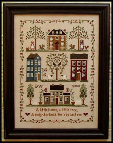 cross stitch pattern house rules little house needleworks hope little sheep virtues