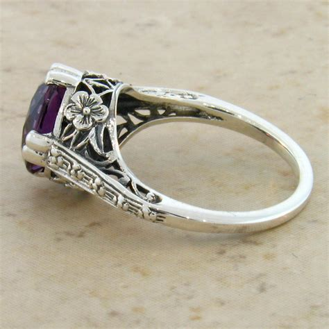 antique deco style 4 ct color changing alexandrite 925