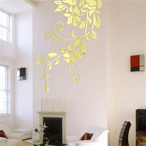wall stickers for home decoration 140 81cm diy acrylic mirror wall stickers home decor wall