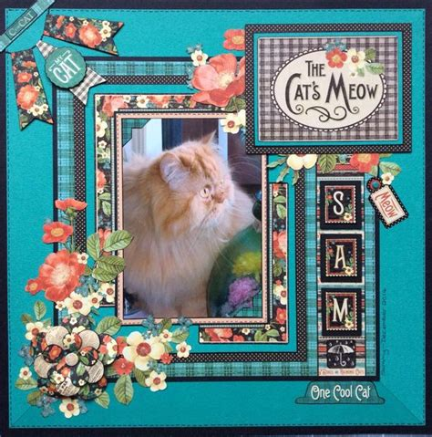 scrapbook layout ideas cats raining cats dogs layout by sue dix graphic45 raining