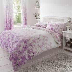 Curtain And Bed Sets Gaveno Cavailia Blossom Printed Complete Bedding Set With Curtains In Pink Free Delivery Next