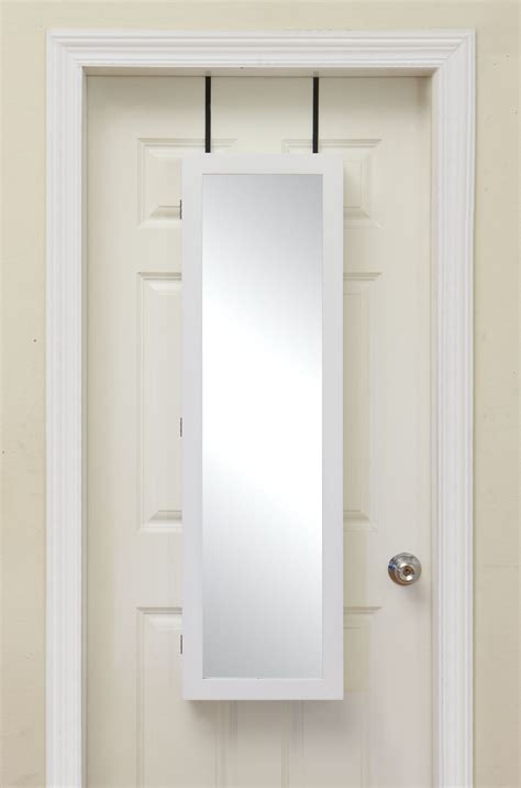 over the door mirrored hanging beauty armoire bring home functional style with an over the door mirror