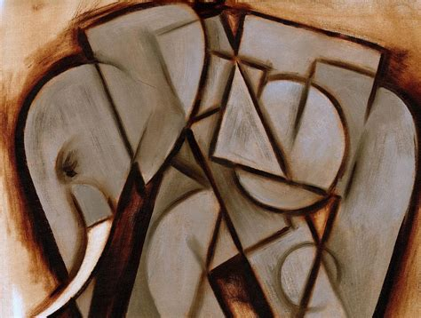cubist paintings tommervik abstract cubism elephant print painting by