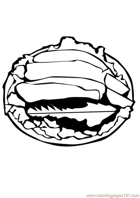 free coloring pages of meat