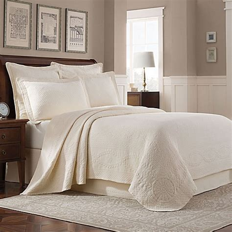 ivory coverlet king buy williamsburg abby king coverlet in ivory from bed bath
