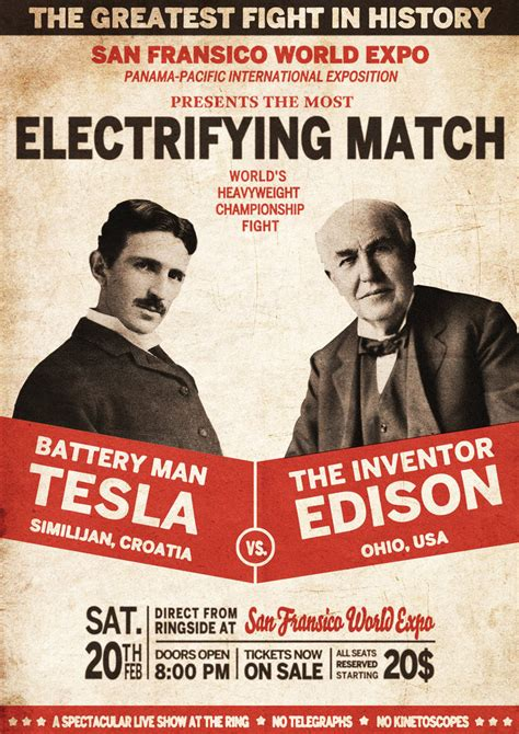Tesla And Edison Edison And Tesla S Electric Feud By Techgnotic On Deviantart
