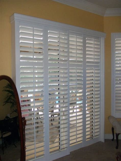 sliding patio door shutters door shutters plantation shutters for doors interior