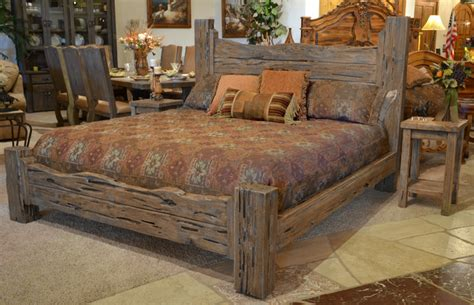 Charming Rustic King Size Bed Frame Editeestrela Design Rustic King Bed Frame