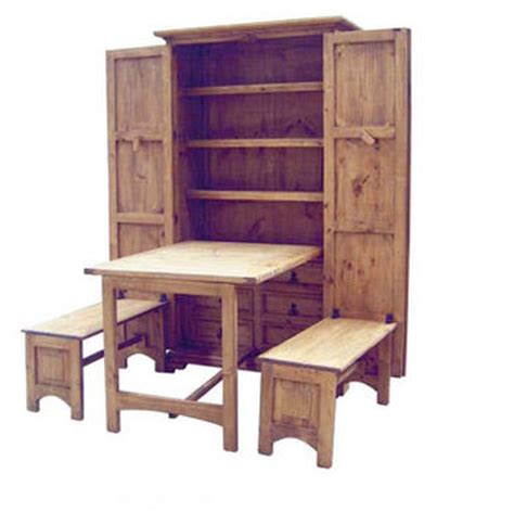 rustic cowboy kitchen solid pine western fold up