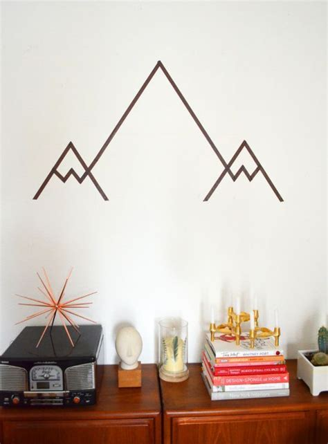diy berge kinderzimmer geometrisches gebirge diy washi mountain wall