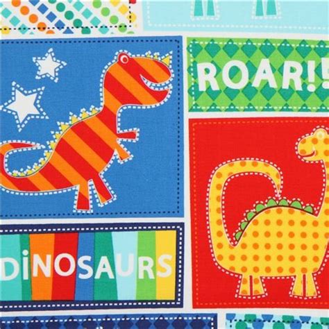 Patchwork Fabric Usa - dinosaur patchwork fabric by timeless treasures usa