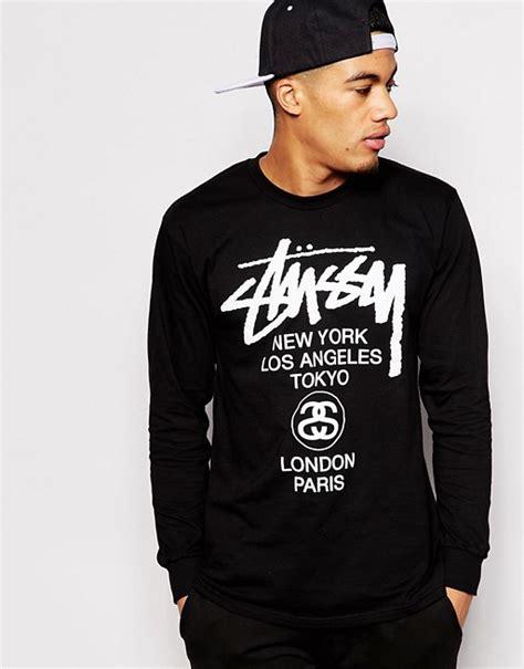 Stussy Longsleeve World Tour stussy stussy sleeve t shirt with world tour print