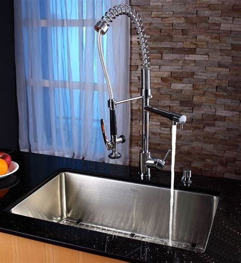 industrial kitchen sink and faucet