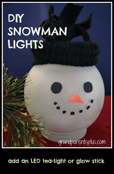 lights snowman diy snowman lights grandparentsplus