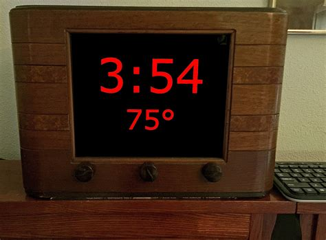 bedroom clock radio converted into a bedroom clock using a raspberry