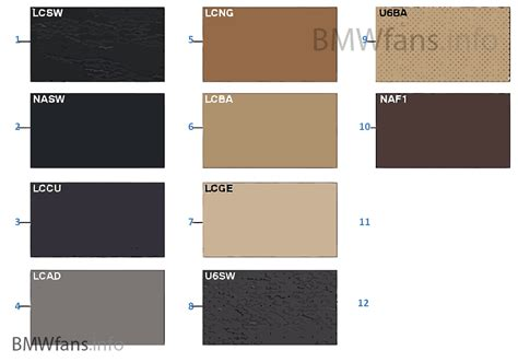 upholstery colors sle chart upholstery colors leather bmw 5 e60 lci