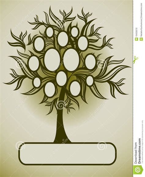 Vector Family Tree Design With Frames Stock Vector Illustration Of Isolated Bright 19433570 Stock Vector Family Tree Template With Portraits Of Relatives And Place For Text On Green