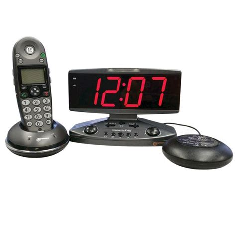 Bed Shaker Alarm by Up Call Alarm Clock With Phone Alert Strobe Light And
