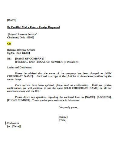 company change letter templates google docs