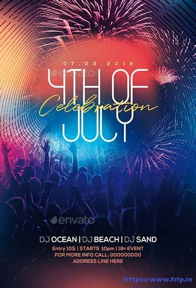 Fourth Of July Party Flyer Template 60 best 4th of july u s independence day flyers print