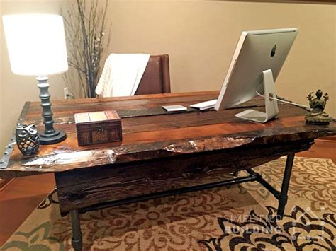 diy rustic office desk diy rustic desk plans to build your own