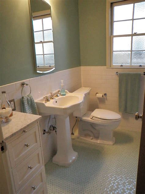 1940s bathroom design 1940 3 bath room up date with glass penny round floor and