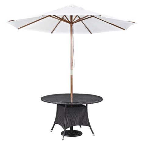 white patio table with umbrella shade usa 7 5 foot