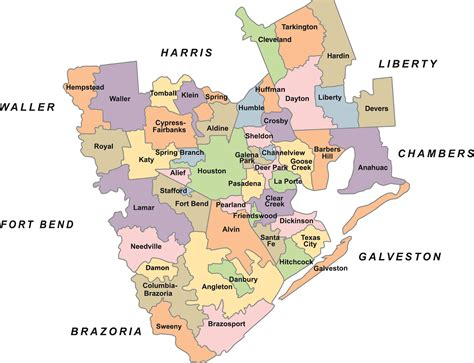 school districts in texas map map of region 4 texas school districts cakeandbloom