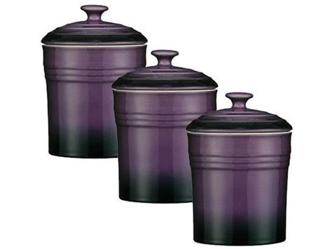 purple kitchen canister sets set of 3 purple storage canisters tea coffee sugar spice