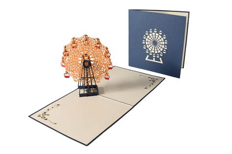 wheels pop up card template the gift for architect interior designer 3d